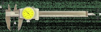 Calibre Pie de Rey con reloj 150 mm 0,01mm