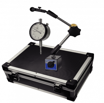 Dial indicator with magnetic support-set in box 10 mm