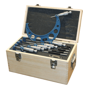 Outside Micrometer Set, Frame coated