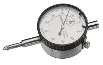 Dial indicator, range 10 mm X 0,01 mm 10 mm