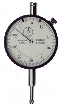 Dial indicator DIN 878, range 10 mm, special shock proof X 0,01 mm