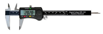 Digital caliper with roll and data output 150 mm