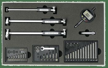 Juego de instrumentos de medición interior 18-160 mm con reloj comparador digital