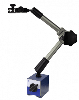 Magnetic dial supports with central clamping, mechanical. Total Height 430 mm