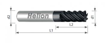 Fresa metal duro multilabio hasta 65 HRc