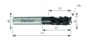 Solid Carbide End Mill Z4 UNEQUAL HELIX - GLADIATOR