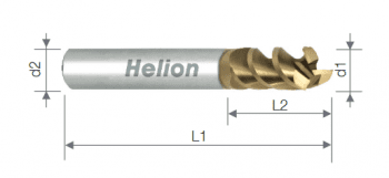 Fresa  metal duro plana Aluminio  Z3 recubrimiento ZrN