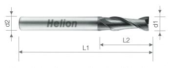 Solid carbide end mill Z2 AlTiN+B