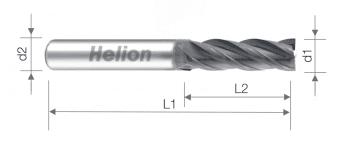 Solid carbide end mill Z4 AlTiN+B