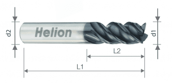 Solid carbide end mill Z4 Helmax Helix