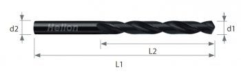 HSS Drill DIN 338 Black HVA