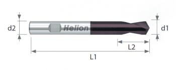 HSSco CNC 120° Spotting Drill TiAlN