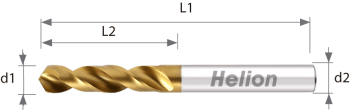 HSSco Drill DIN 1897 TiN U-NEWDRILL