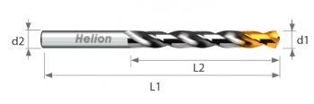 HSS Drill DIN 338 TiN- Up