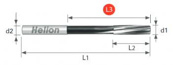 Escariador de máquina HSS-E DIN 212-2 HSS-E TOL. H7