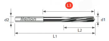 Solid Carbide Reamer CNC Machine DIN 212-2 Tol. H7