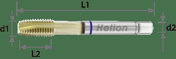 Macho de máquina alto rendimiento HSS-E