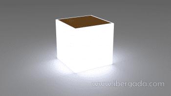 Mesita Bora con Luz (43x43x43) - 1