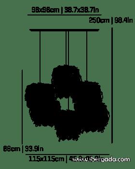 Caos Composición -6A- Colgante - 3