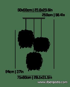 Caos Composición -3A- Colgante - 1