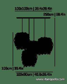 Caos Composición -4A- Colgante - 2