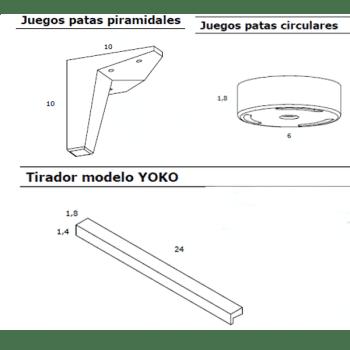 APARADOR 2 PUERTAS Y CAJÓN -MODELO YOPAR- - 3