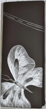 Jarrón mariposa cuadrado