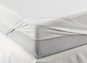 Protector de colchón impermeable de rizo 90x190