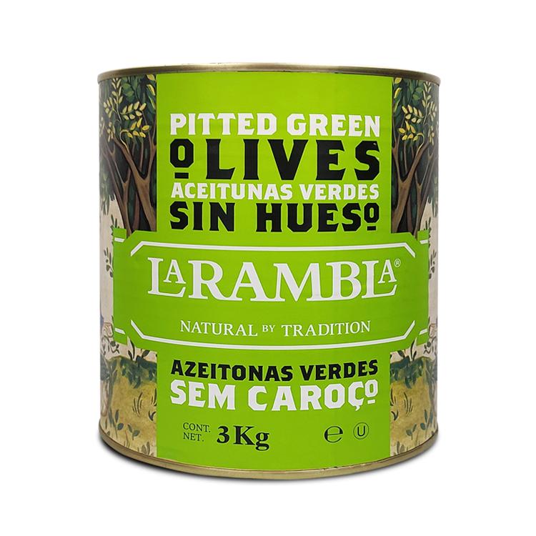 MANZANILLA GREEN PITTED OLIVES - 2