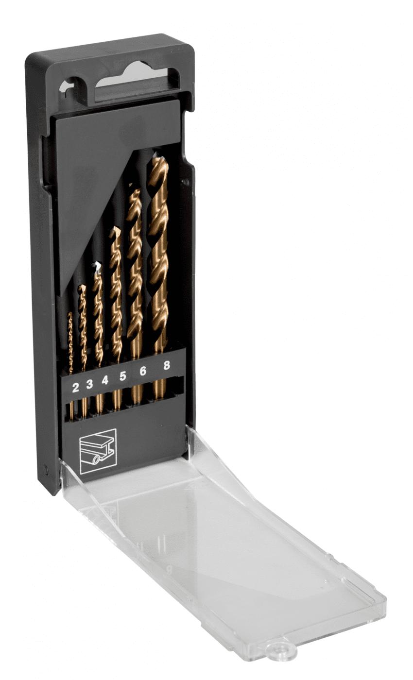 Joc de broques HSS-E de cobalt per a metall (6 peces) -