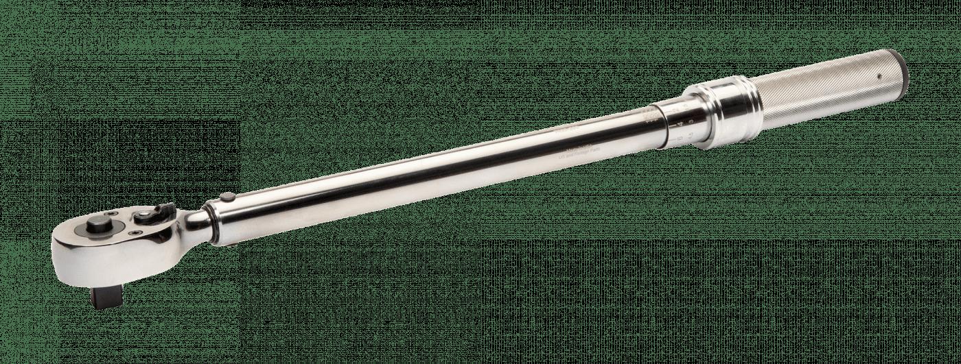 Llave dinamométrica mecánica de disparo ajustable con escala marcada y cabeza fina de carraca -