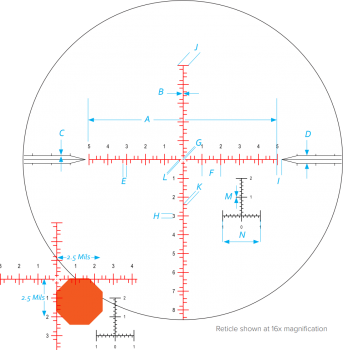 VISOR NIHGTFORCE ATACR™ 4-16x42 F1 - 4