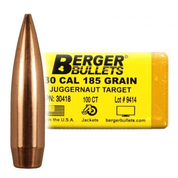 """BERGER BULLETS MATCH TARGET 30 CALIBER (.308"""") 185GR JUGGERNAUT TARGET BULLETS"""