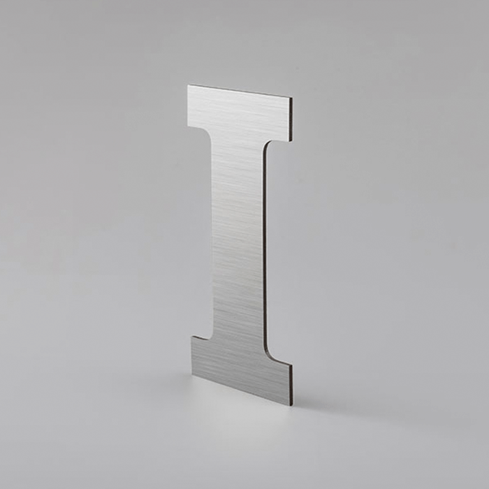 SMALL SIZE METALLIC LETTERS WITHOUT DEPTH STRAIGHT FONT