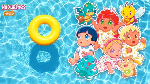 Los Nadurines hacen una fiesta en la piscina para celebrar el verano