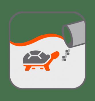 Alimentación tortugas acuario