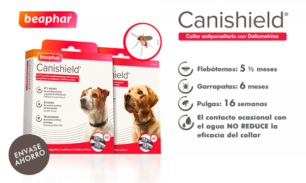 NOVEDAD COLLAR ANTIPARASITARIO CANISHIELD