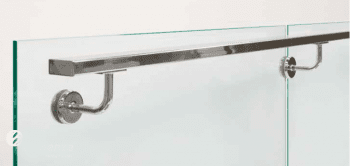Pasamanos rectangular vidrio
