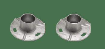 Base para poste de barandilla de acero inox AISI-316 (Caja indivisible 2 unidades / precio por unidad!!)