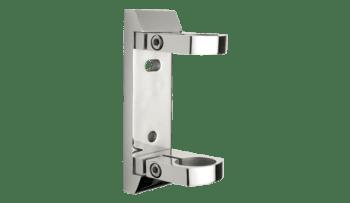 Base lateral estrecha para poste barandilla inox AISI-316