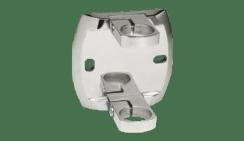 Base lateral ancha para poste barandilla inox AISI-316