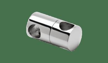 Soporte regulable pasante 12x12 mm para unión de tubos (Caja 4 unidades)