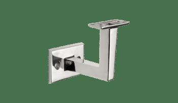 Soporte fijo a pared para pasamanos cuadrado o rectangular de acero inox (Caja 2 unidades /precio por unidad!!)