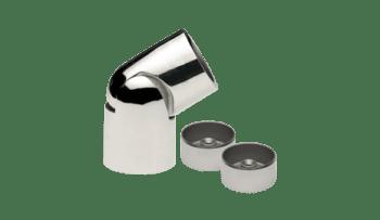 Conector regulable para pasamanos de madera en inox AISI-304 (caja 2 unidades)