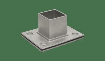 Base atornillar para poste 40x40 mm de barandilla inox AISI-316 (Caja indivisible 2 unidades / precio por unidad!!)