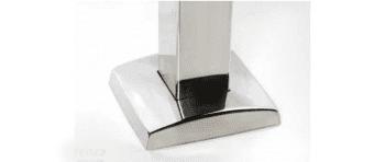 Base atornillar para poste 40x40 mm de barandilla inox AISI-316 (Caja indivisible 2 unidades / precio por unidad!!) - 1