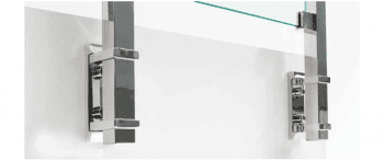 Base lateral para poste cuadrado 40x40 mm de barandilla en inox  AISI-316 - 1