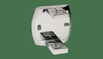Base lateral para poste cuadrado 40x40 mm de barandilla en inox AISI-316
