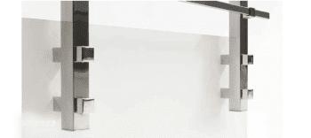 Kit 2 soportes laterales para postes cuadrados de barandilla inox AISI-316 - 1