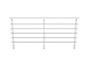 Kit 2 soportes laterales para postes cuadrados de barandilla inox AISI-316 - 2